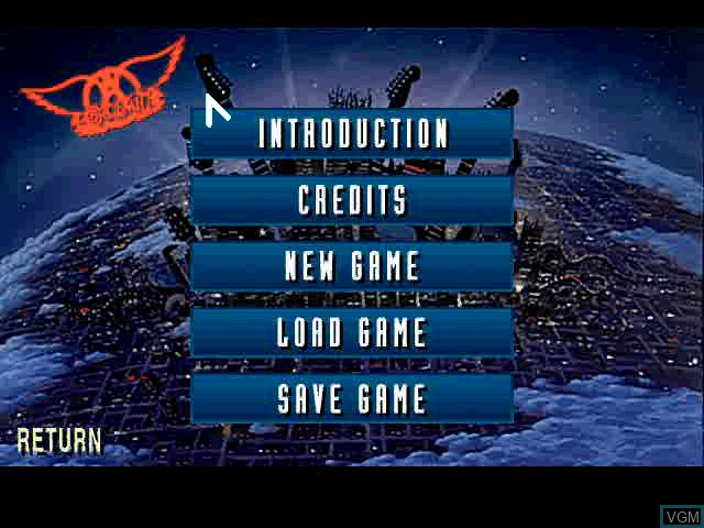 Menu screen of the game Quest for Fame - Be a Virtual Rock Legend on Sony Playstation