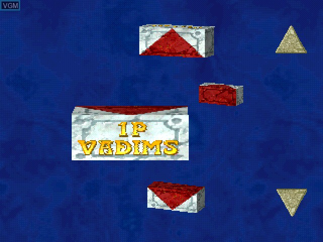 Menu screen of the game Vadims on Sony Playstation
