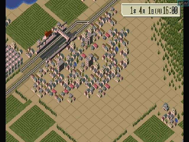 Menu screen of the game A Ressha de Ikou 4 - Evolution on Sony Playstation