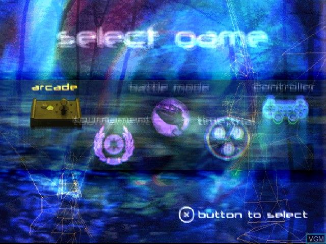 Menu screen of the game 360 Three Sixty on Sony Playstation