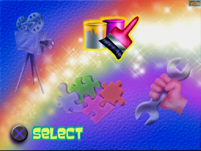 Menu screen of the game Herkules on Sony Playstation