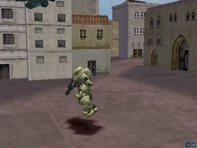 Menu screen of the game Tactical Armor Custom Gasaraki on Sony Playstation