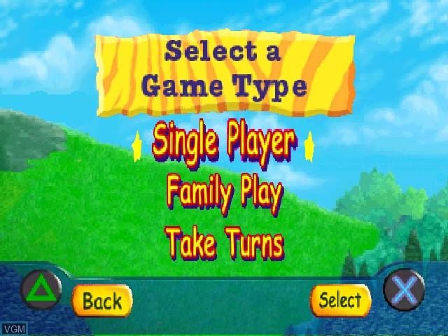 Menu screen of the game JumpStart Wildlife Safari - Field Trip on Sony Playstation