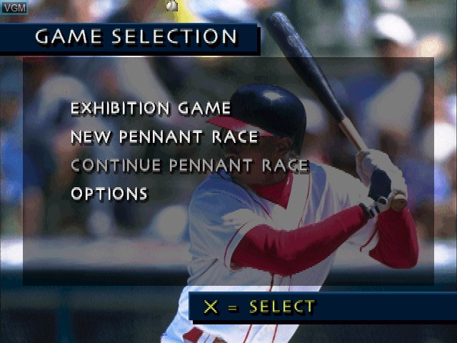Menu screen of the game 3D Baseball on Sony Playstation