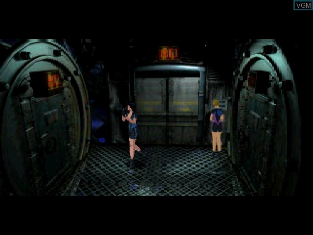 In-game screen of the game Fear Effect 2 - Retro Helix on Sony Playstation