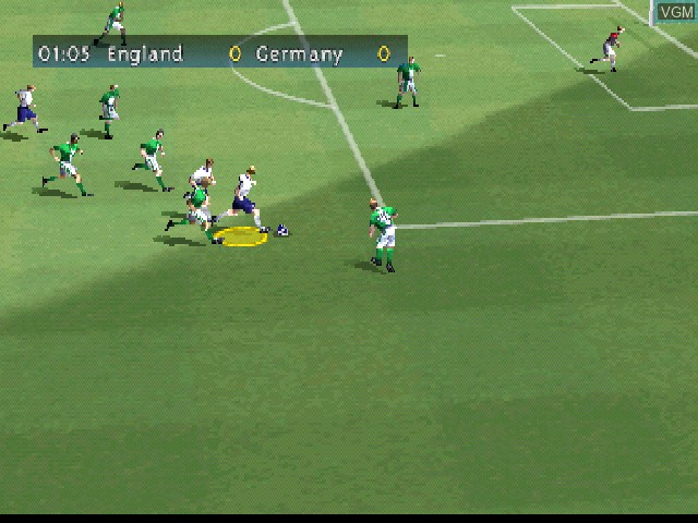 In-game screen of the game FIFA 2000 on Sony Playstation