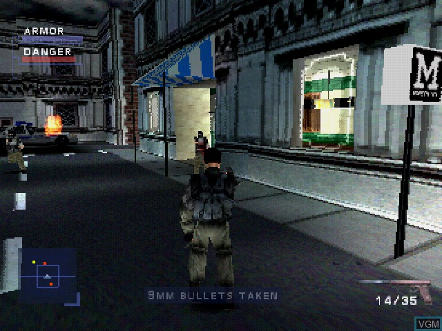 In-game screen of the game Syphon Filter on Sony Playstation