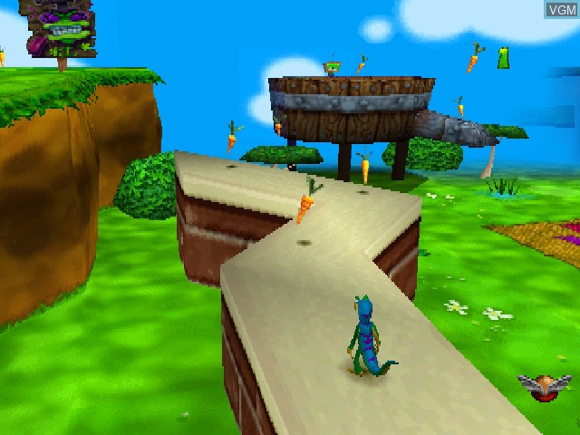 In-game screen of the game Gex - Enter the Gecko on Sony Playstation