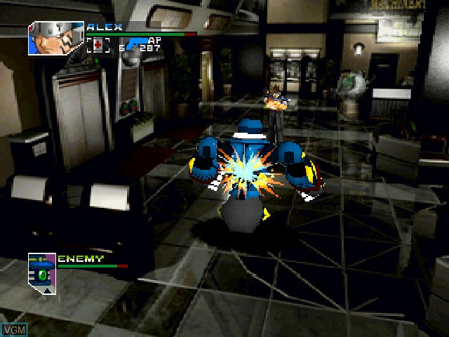 In-game screen of the game Hard Edge on Sony Playstation