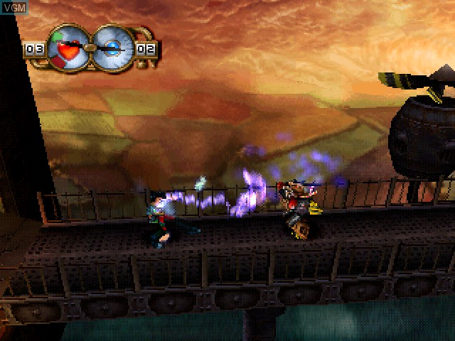 In-game screen of the game Wild 9 on Sony Playstation