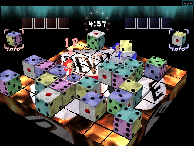 In-game screen of the game Devil Dice on Sony Playstation