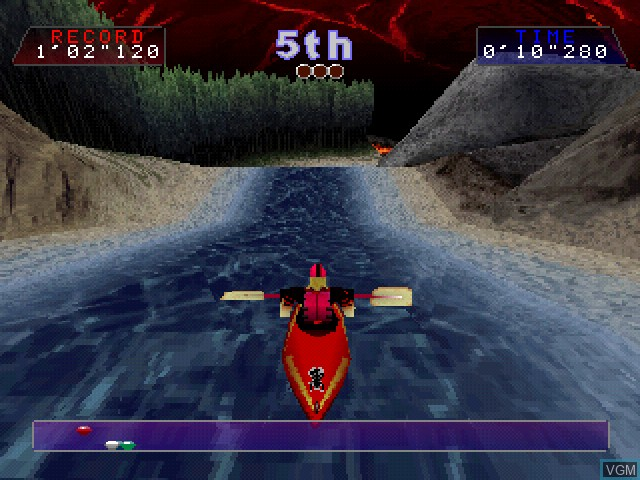 In-game screen of the game Wild Rapids on Sony Playstation
