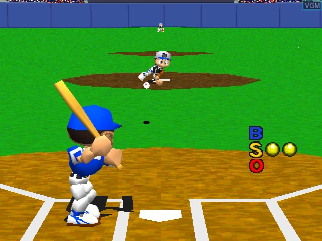 In-game screen of the game Big League Slugger Baseball on Sony Playstation