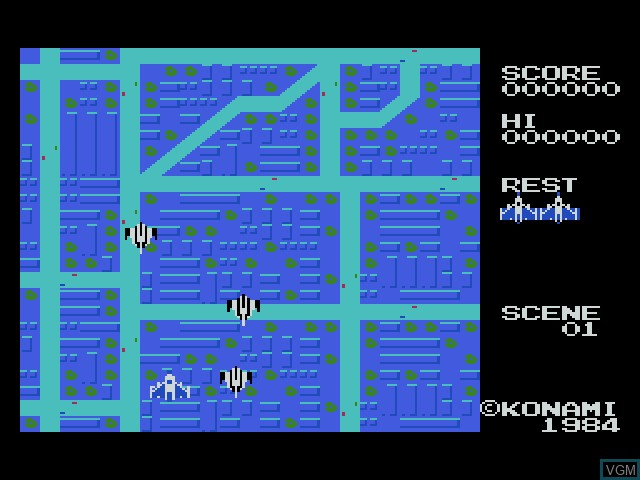 In-game screen of the game Konami Antiques - MSX Collection Vol. 1 on Sony Playstation