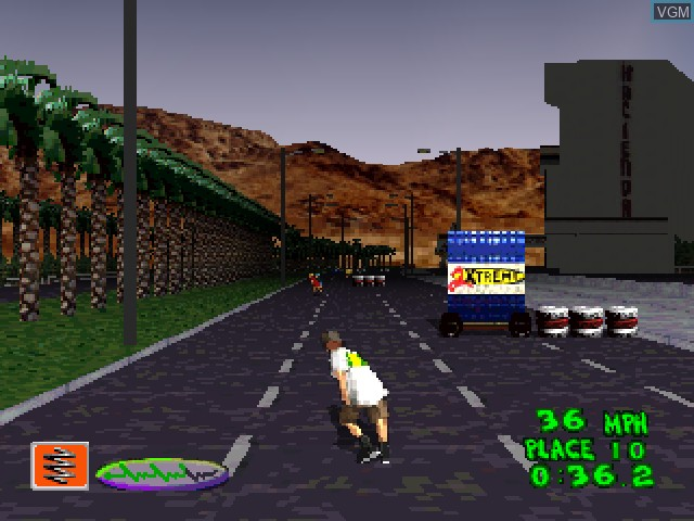 In-game screen of the game 2Xtreme on Sony Playstation