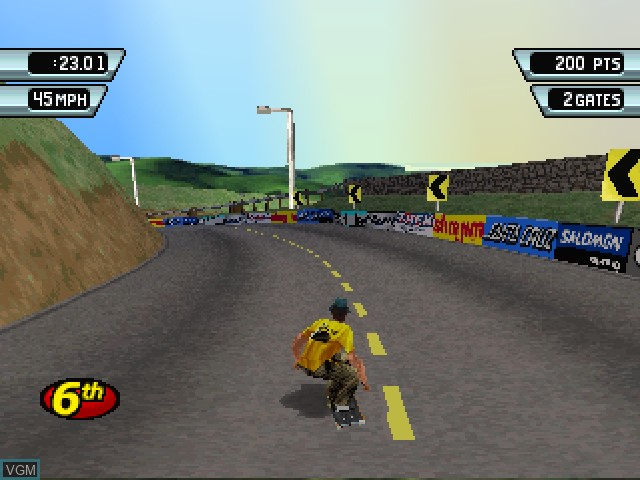 In-game screen of the game 3Xtreme on Sony Playstation
