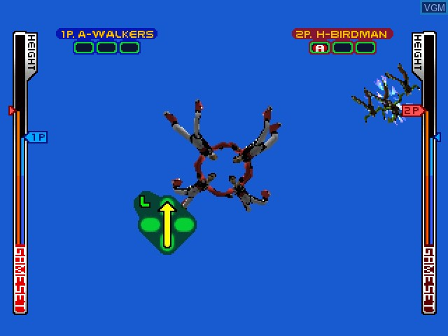 In-game screen of the game Aero Dive on Sony Playstation