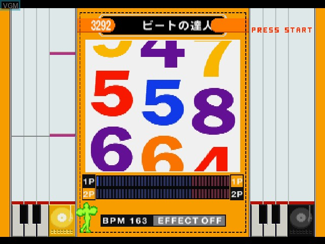 In-game screen of the game Beat Mania - The Sound of Tokyo on Sony Playstation