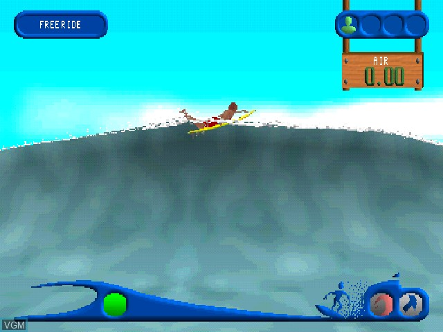 In-game screen of the game California Watersports on Sony Playstation