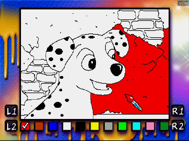 In-game screen of the game Dalmatians 2 on Sony Playstation