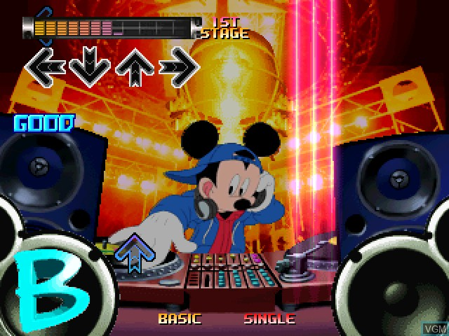 In-game screen of the game Dance Dance Revolution - Disney Mix on Sony Playstation