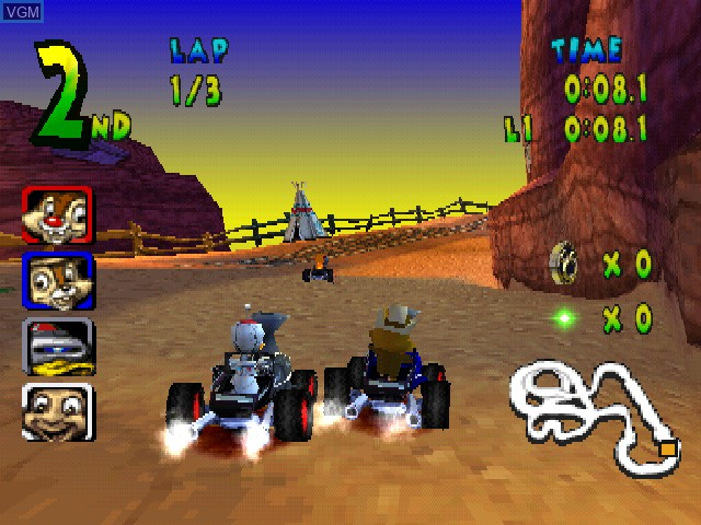 In-game screen of the game Walt Disney World Quest - Magical Racing Tour on Sony Playstation