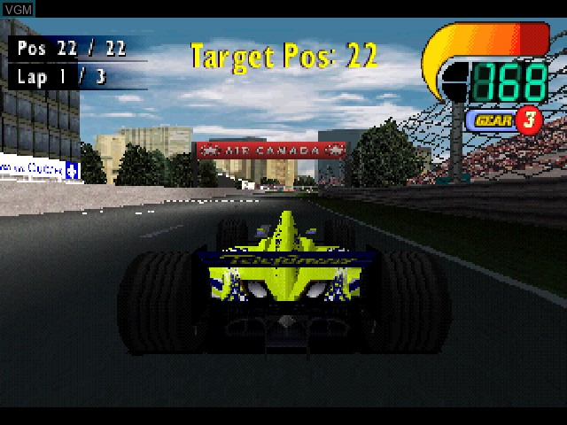 In-game screen of the game F1 World Grand Prix on Sony Playstation