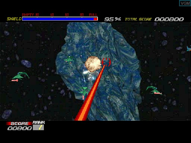 In-game screen of the game Galaxian^3 on Sony Playstation