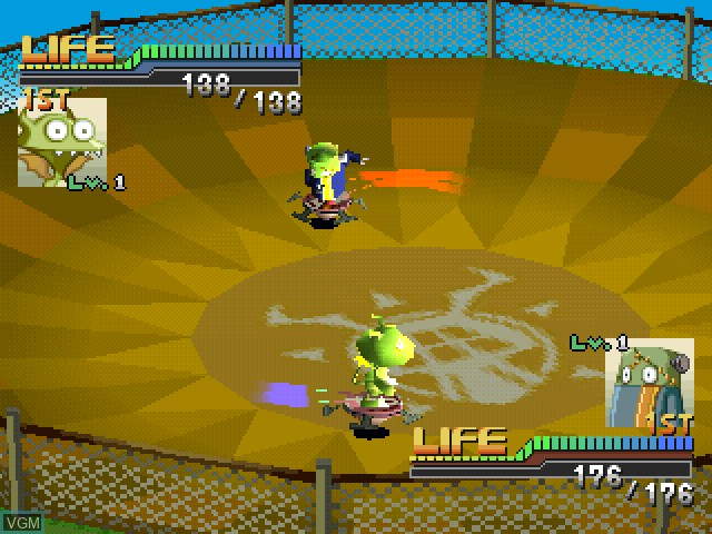 In-game screen of the game Gangway Monsters on Sony Playstation