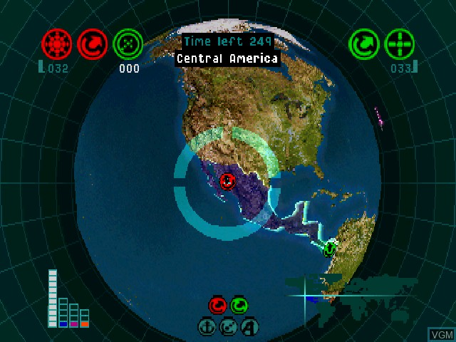 In-game screen of the game Global Domination on Sony Playstation