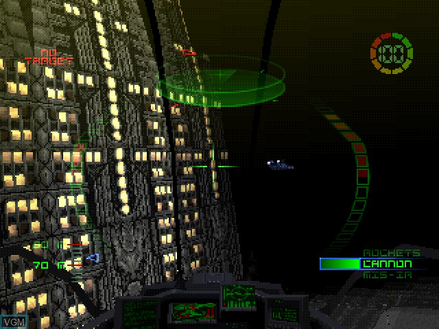In-game screen of the game G-Police on Sony Playstation