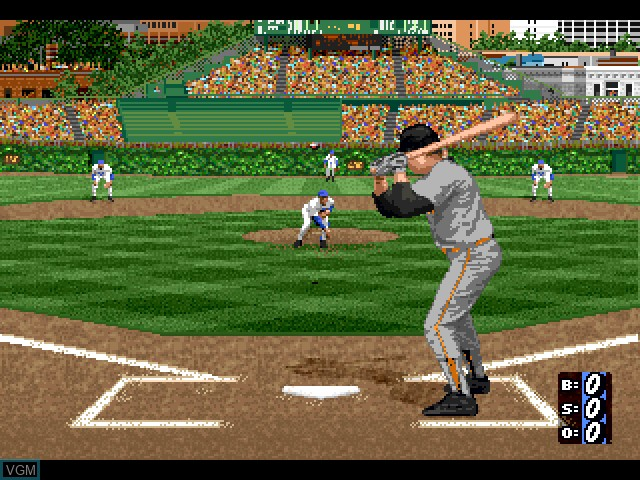 In-game screen of the game HardBall 5 on Sony Playstation