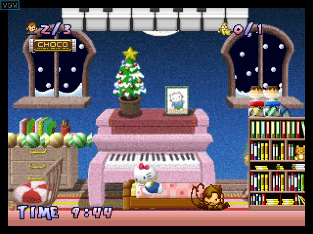 In-game screen of the game Hello Kitty - White Present on Sony Playstation