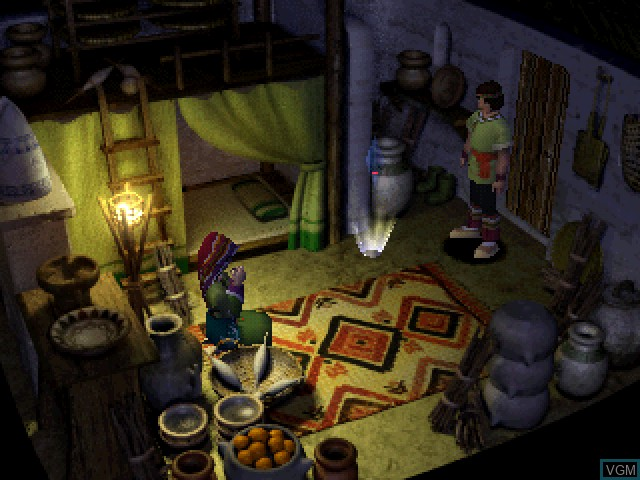 In-game screen of the game Jade Cocoon - Story of the Tamamayu on Sony Playstation