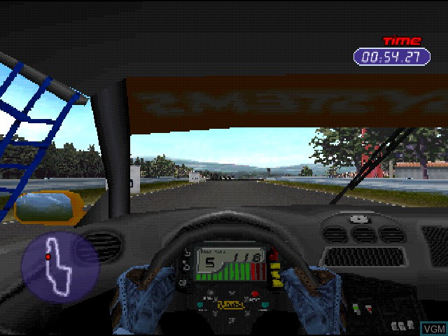 In-game screen of the game Jarrett & Labonte Stock Car Racing on Sony Playstation