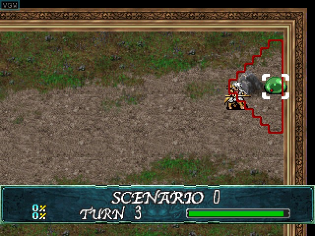 In-game screen of the game Langrisser IV & V Final Edition on Sony Playstation