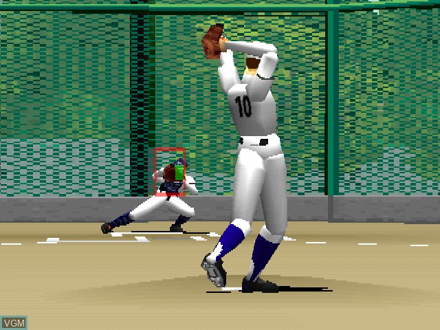 In-game screen of the game 98 Koushien - Koukou Yakyuu Simulation on Sony Playstation