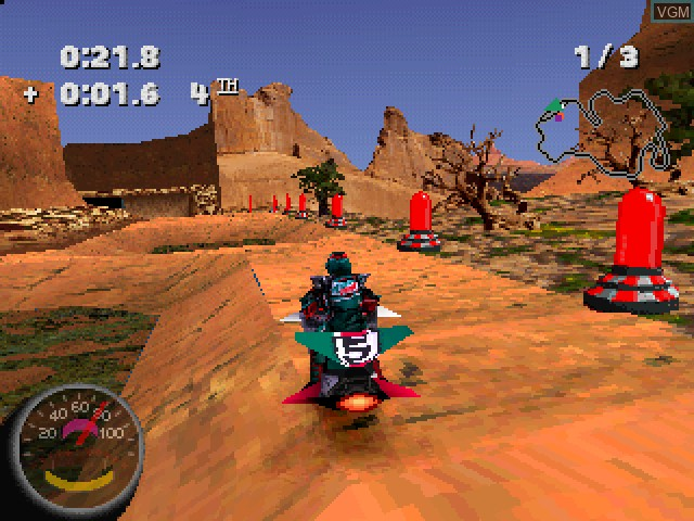 In-game screen of the game Jet Moto 2 on Sony Playstation