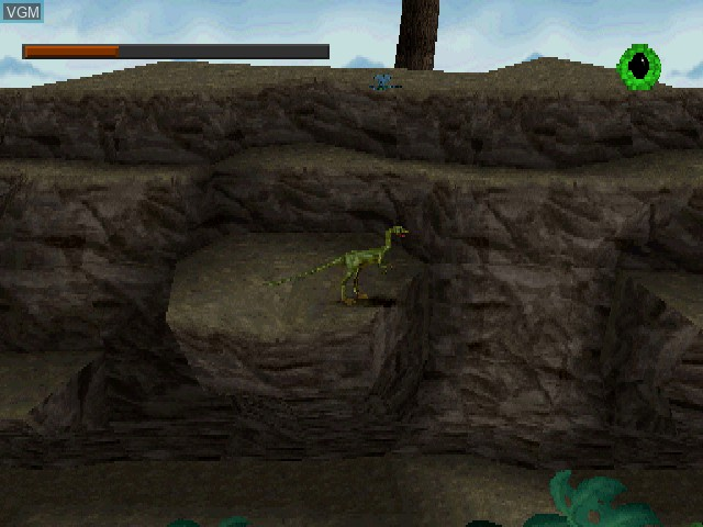 In-game screen of the game Lost World, The - Jurassic Park on Sony Playstation