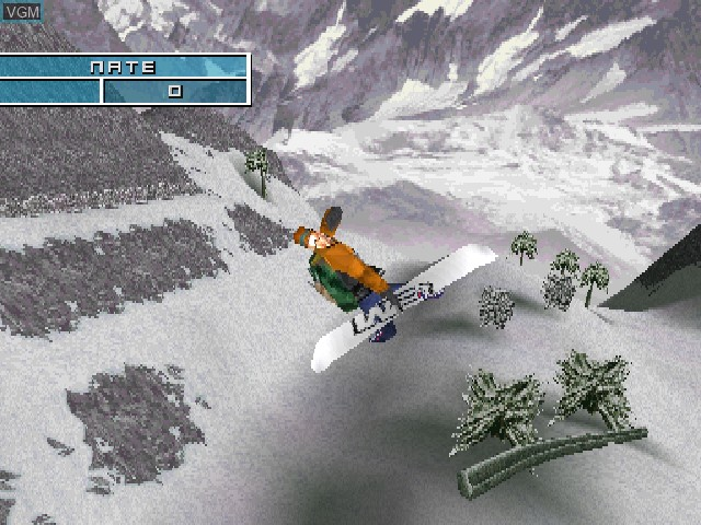 In-game screen of the game MTV Sports - Pure Ride on Sony Playstation