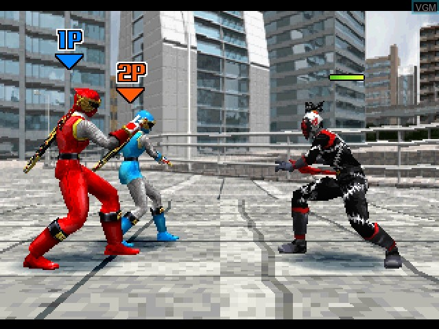 In-game screen of the game Ninpu Sentai Hurricanger on Sony Playstation