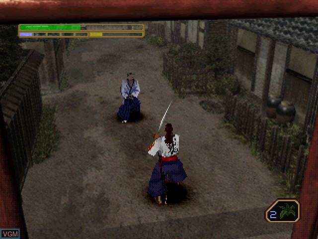 In-game screen of the game Soul of the Samurai on Sony Playstation