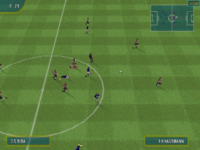 In-game screen of the game Sven-Goeran Eriksson's World Challenge on Sony Playstation