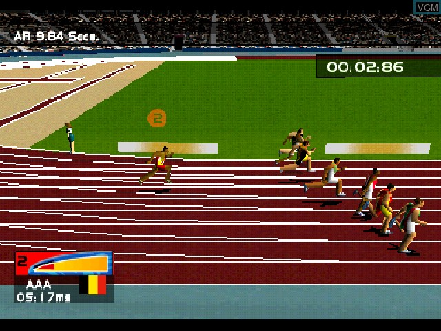 In-game screen of the game Sydney 2000 on Sony Playstation