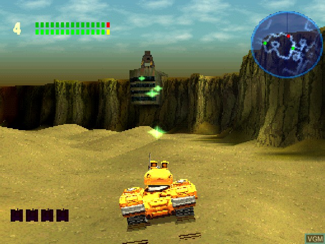 In-game screen of the game Tiny Tank on Sony Playstation
