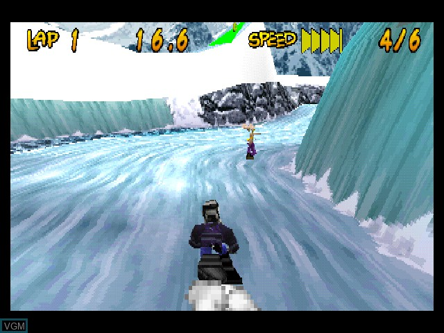 In-game screen of the game Running Wild on Sony Playstation