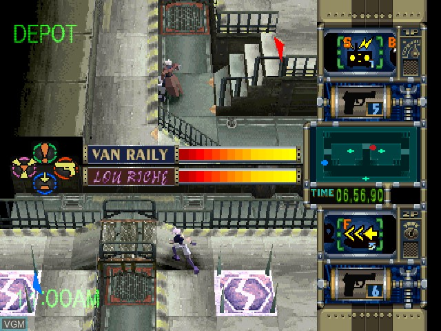 In-game screen of the game Trap Gunner on Sony Playstation