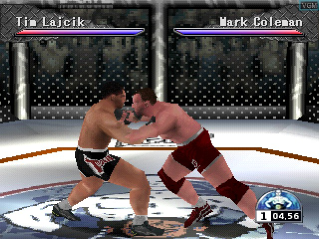 In-game screen of the game Ultimate Fighting Championship on Sony Playstation