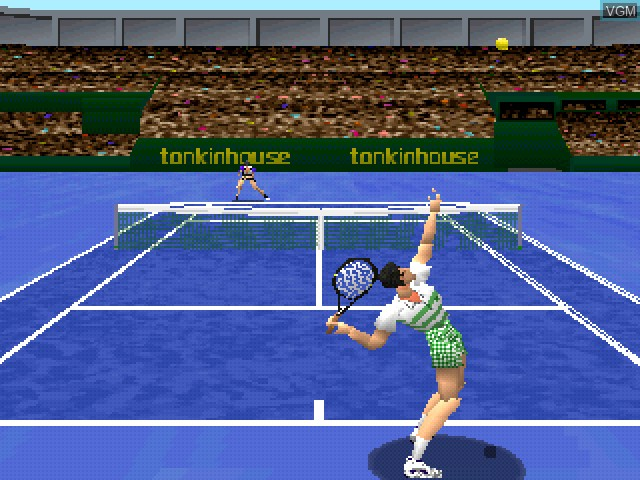 In-game screen of the game V-Tennis on Sony Playstation