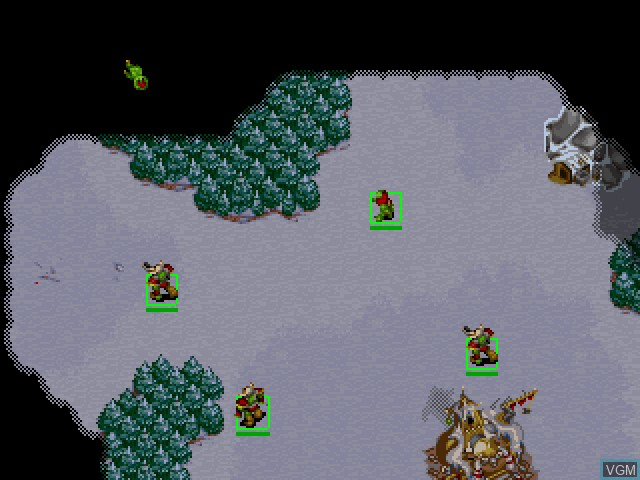 In-game screen of the game WarCraft II - The Dark Saga on Sony Playstation